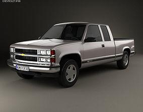Chevrolet C1500 K1500 Extended Cab 1988 3D model