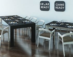 Dining Table 03 VR AR Game Ready 3D model