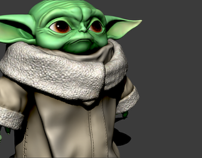 The Child aka Baby Yoda from the 3D print model