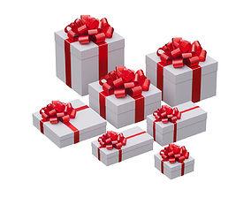 Christmas gift box 3D