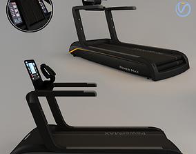 3D model Black Treadmill