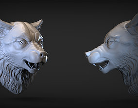 3D print model Angry Wolf head