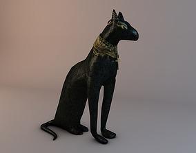 3D printable model Low Poly Bastet Statue