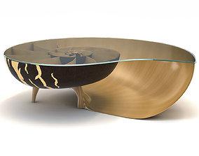 Marc Fish Nautilus II Low Coffee Table 3D model