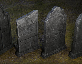 realtime Tombstone - 4 Models - 4k Textures -