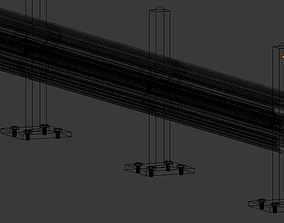 vray 3D Road Safety Barrier guard rail