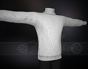 3D asset White Winter Turtleneck