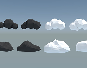 8 Mobile Clouds 3D asset