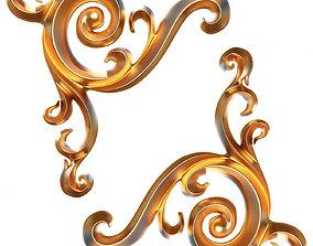 3D asset Carving Plaster Molding Decoration CNC