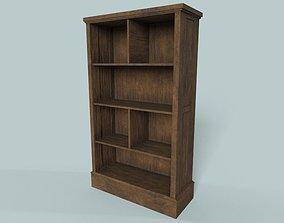 3D model Black Walnut Wooden Shelf