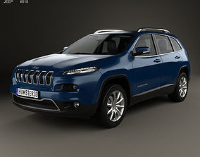 3D Jeep Cherokee Limited with HQ interior 2014
