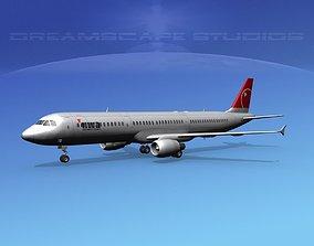 Airbus A321 Northwest 2 3D