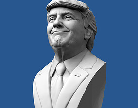 Donald Trump Bust 3D printable model figurines