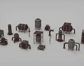 Rooftop pack - 17 Pieces 3D asset