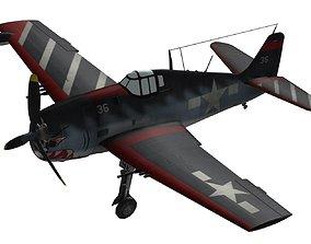 3D FLY Game-Ready - Grumman F6F-5N Hellcat - Airplane