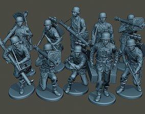 German soldiers ww2 G4 Pack1 3D model