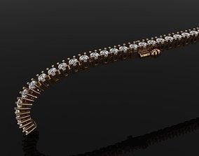 3D printable model Diamond Tennis Bracelet Links 2MM
