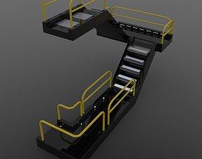 3D Sci-fi modular catwalk