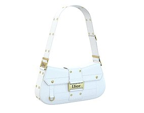 Dior Street Chic Bag White Leather 3D asset