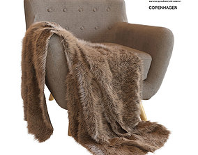 3D model Copenhagen armchair and plaid