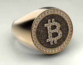jewellery Bitcoin ring 3D print model