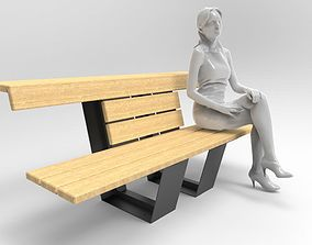Bench furniture 3D model