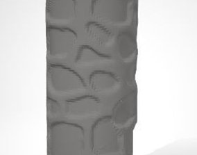 Textured Rolling Pin Cobblestone 3D printable model