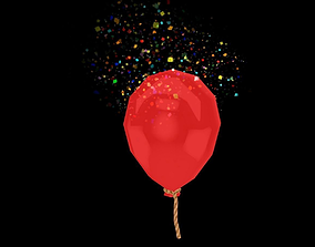 3D model low-poly various Balloon