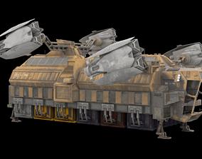 3D Sci Fi Cargo Ship