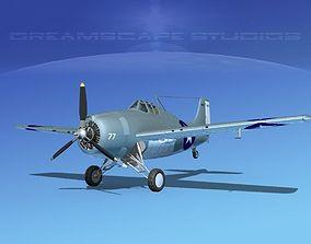 Grumman F4F-3 Wildcat V09 3D model