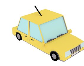 Low Poly Car for game 3D asset