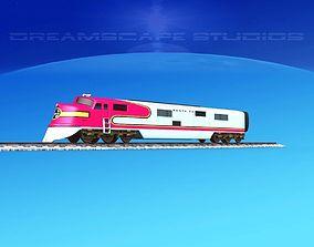 SuperChief Locomotive 3D model rigged