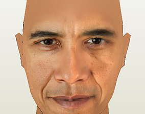 3D asset Barack Obama Base Head