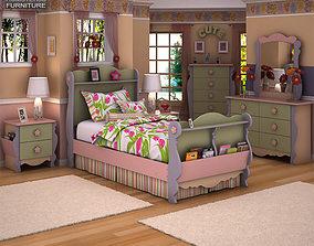 3D asset Ashley Doll House Sleigh Bedroom Set