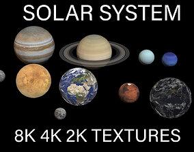 3D asset 8K PBR Solar System Planets