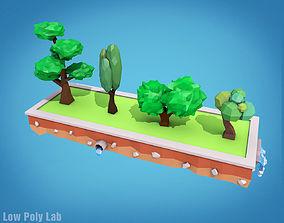 3D model Cartoon Trees Pack 1