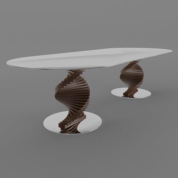 Big Firenze Table Round Edge