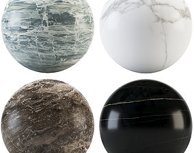 3D model noir Collection Marble 01
