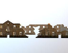 Long Damaged-Destroyed Building 2 3D asset