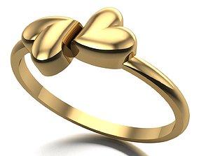 3D printable model heart ring fashion