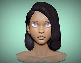 Female Base head Mesh 3D model