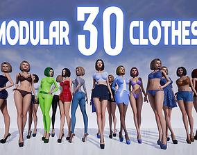 Marta Modular Girl - Clothes Pack 3D model