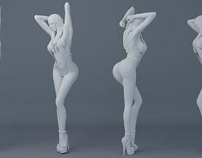 3D printable model Long hair girl wearing bikini 001