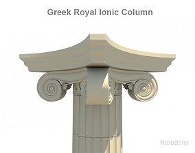 3D Greek ionic royal column