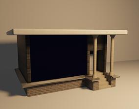 3D Small high-tech house
