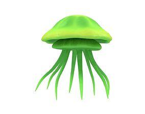 Jellyfish Green 3D