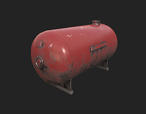 3D model Gas Tank - 4 Color