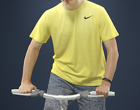 Radim A Casual Man Riding A Bike 3D model