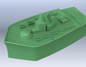 Master model for baking military cruiser 3D