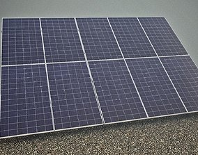 game-ready Solar panels 3D model V2